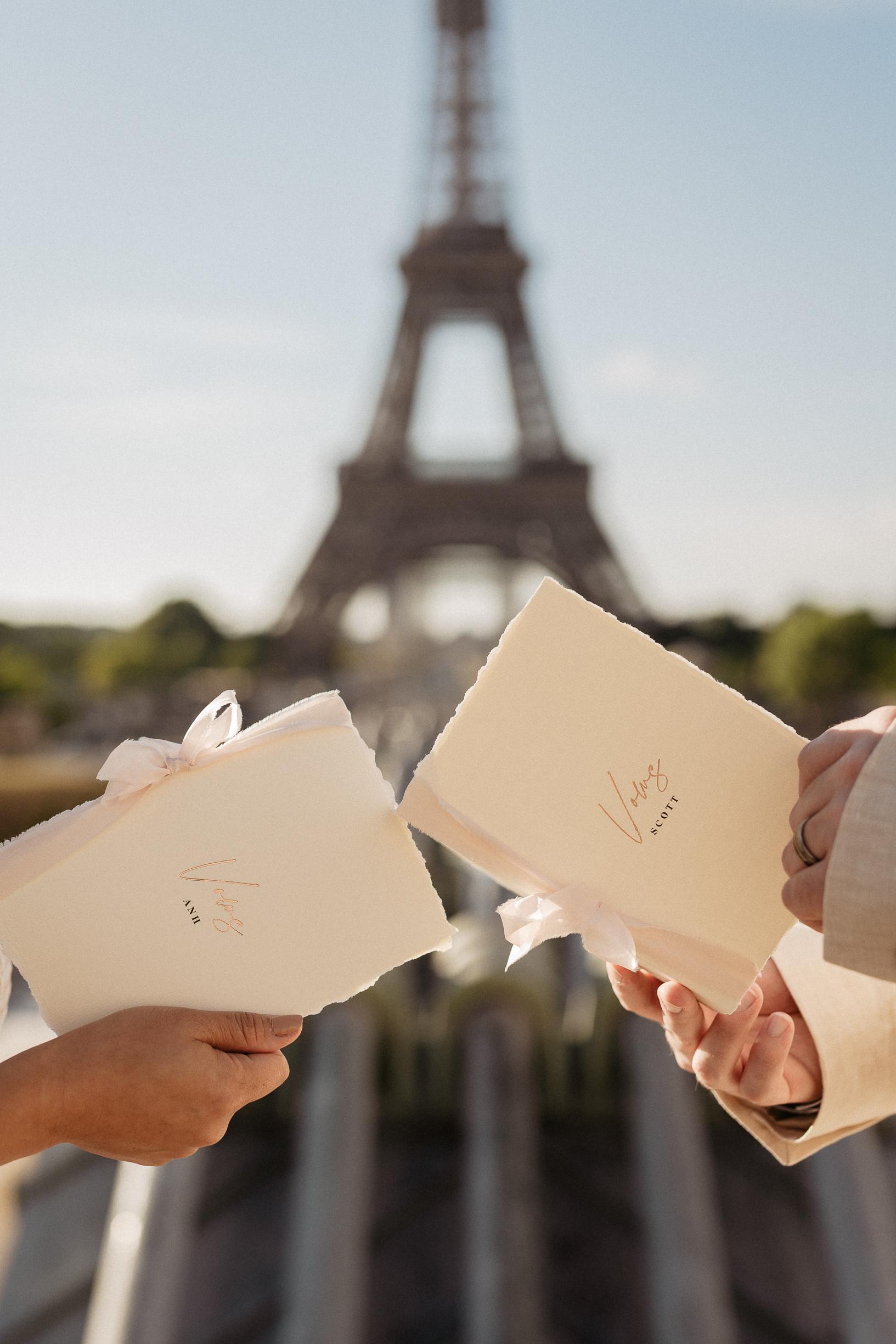 Paris Elopement Vows
