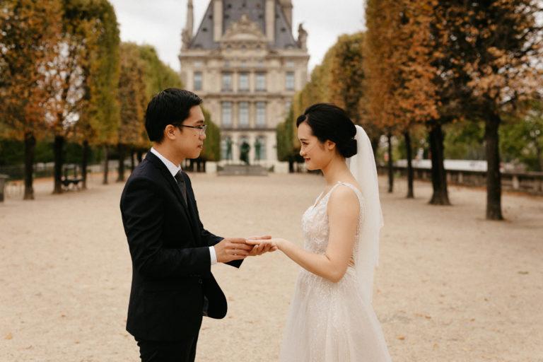 elopement wedding jardin des tuileries