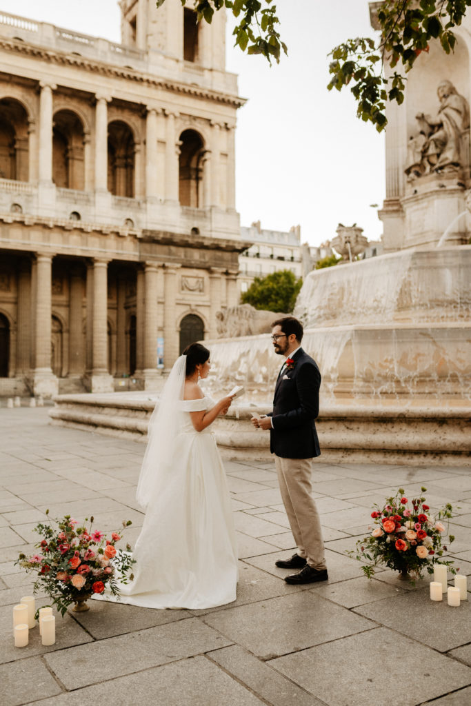 Paris Elopement Saint-Sulpice Vows