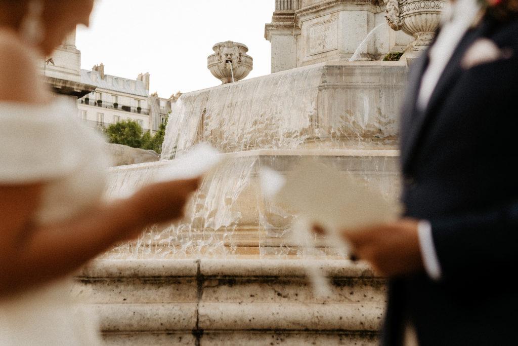 Vow exchange at Saint Sulpice Paris