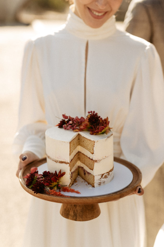 Multi layered cake paris elopement
