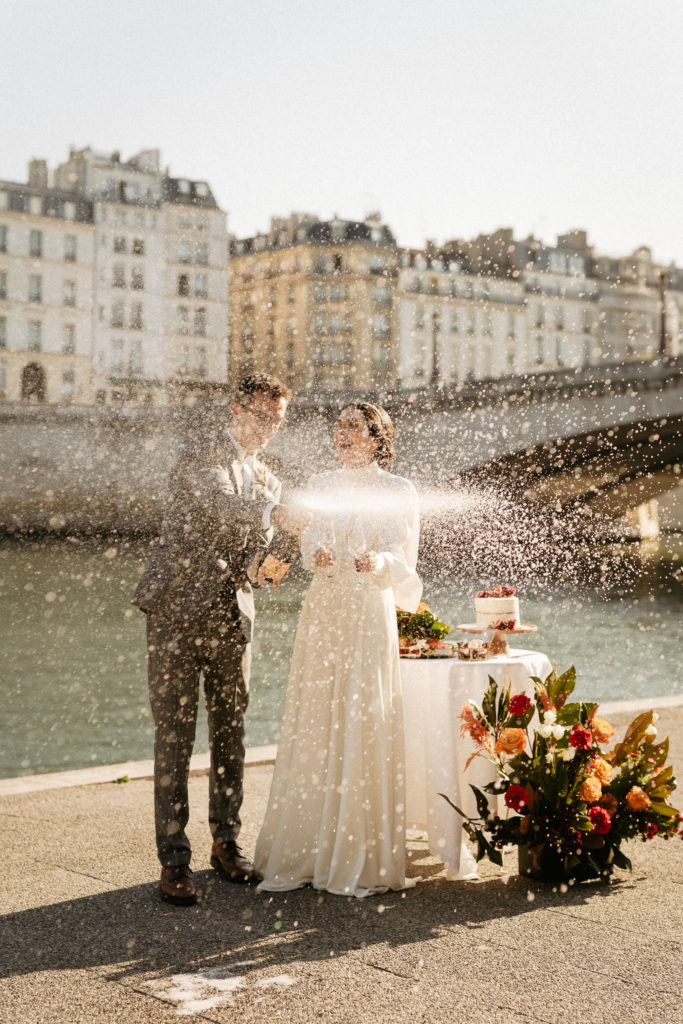 paris wedding champagne shower
