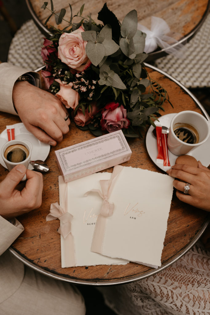 Vows book and stationery