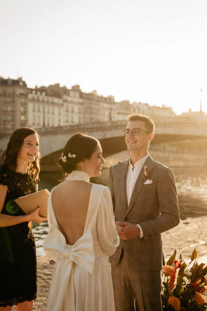 paris elopement wedding ceremony officiant