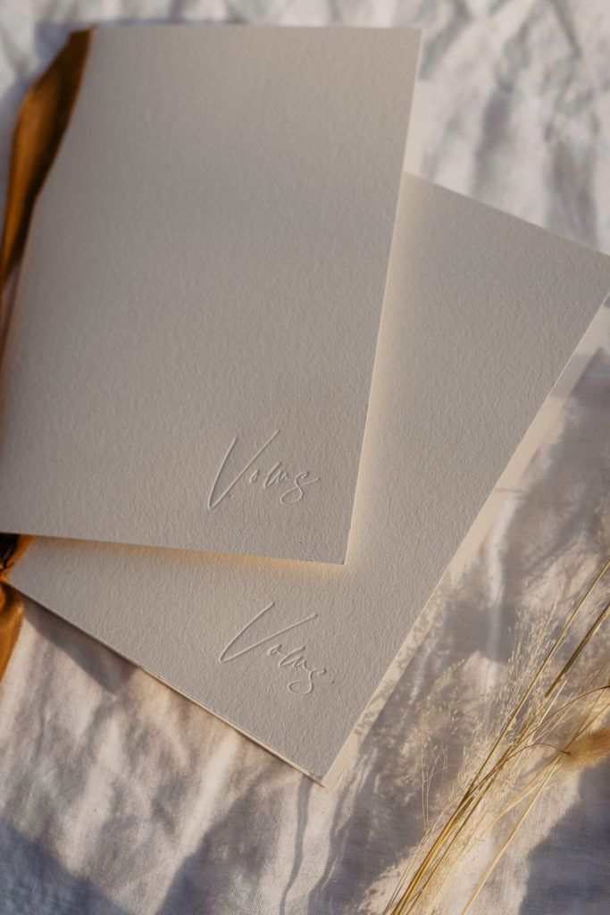 paris elopement wedding stationery vow books