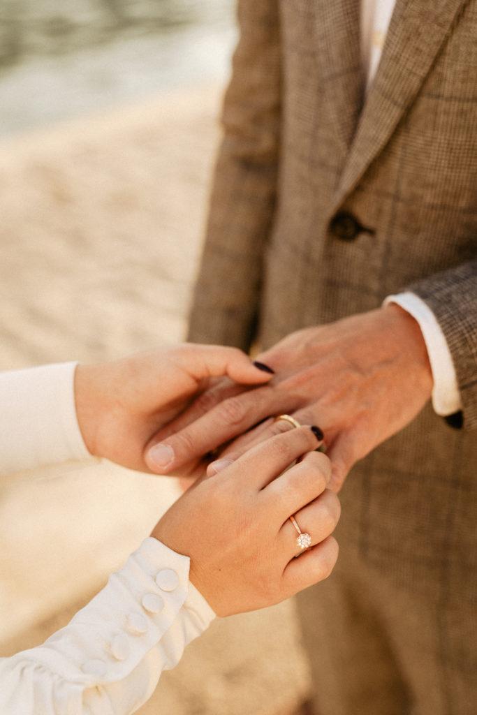 wedding ceremony rings paris