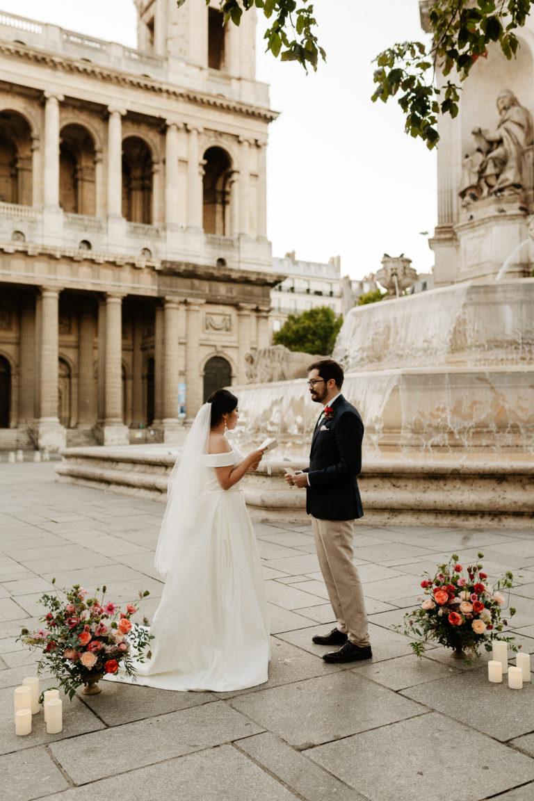 Paris elopement vows renewal in Paris