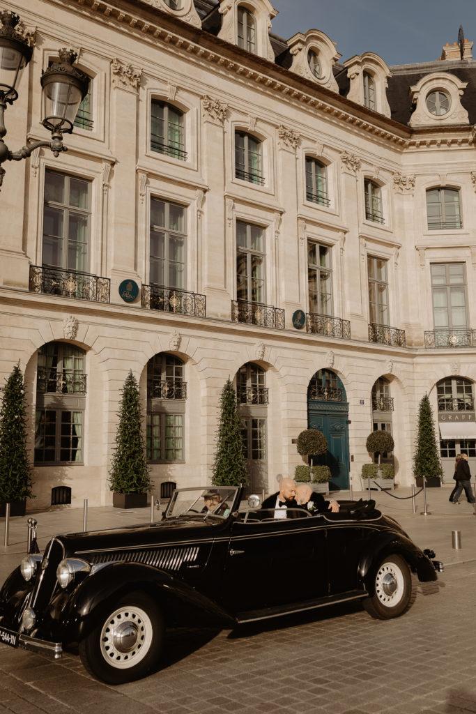 Vintage car rental in Paris