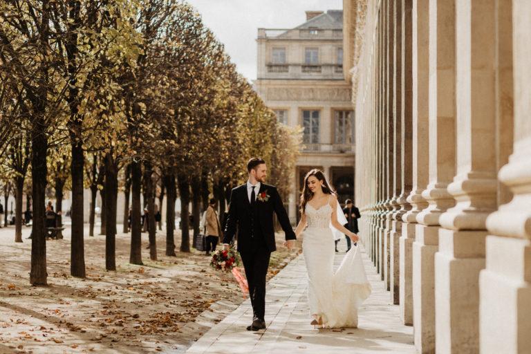 Paris elopement wedding palais royal