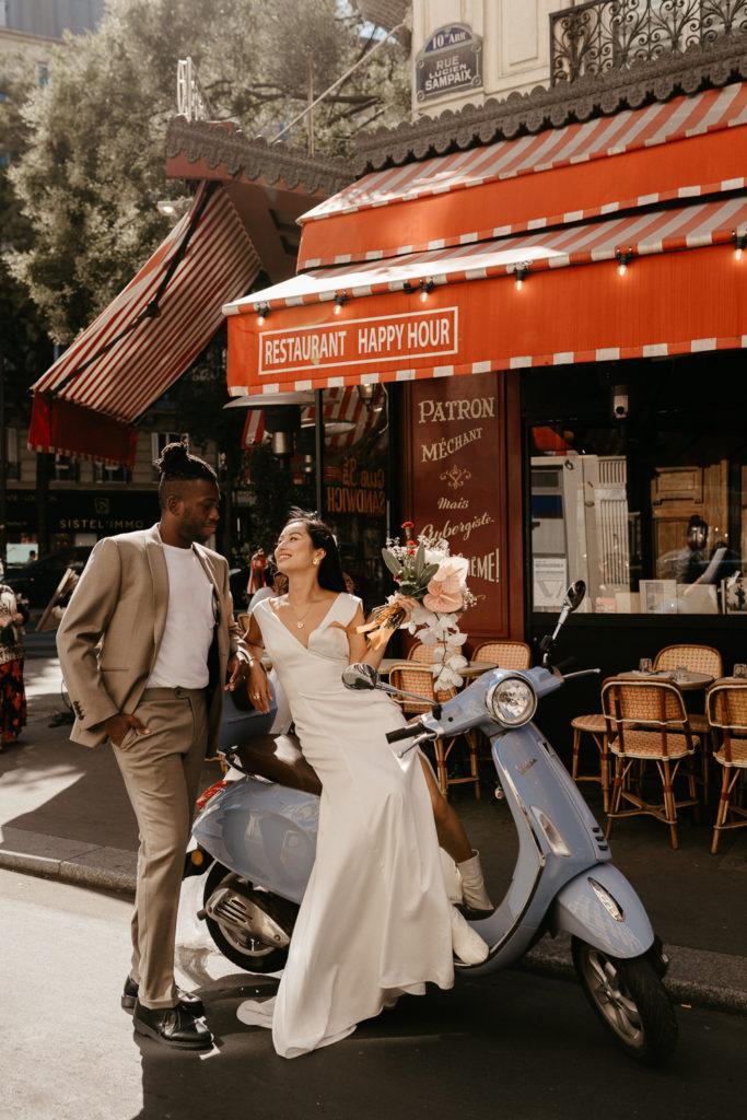 Paris elopement cafe