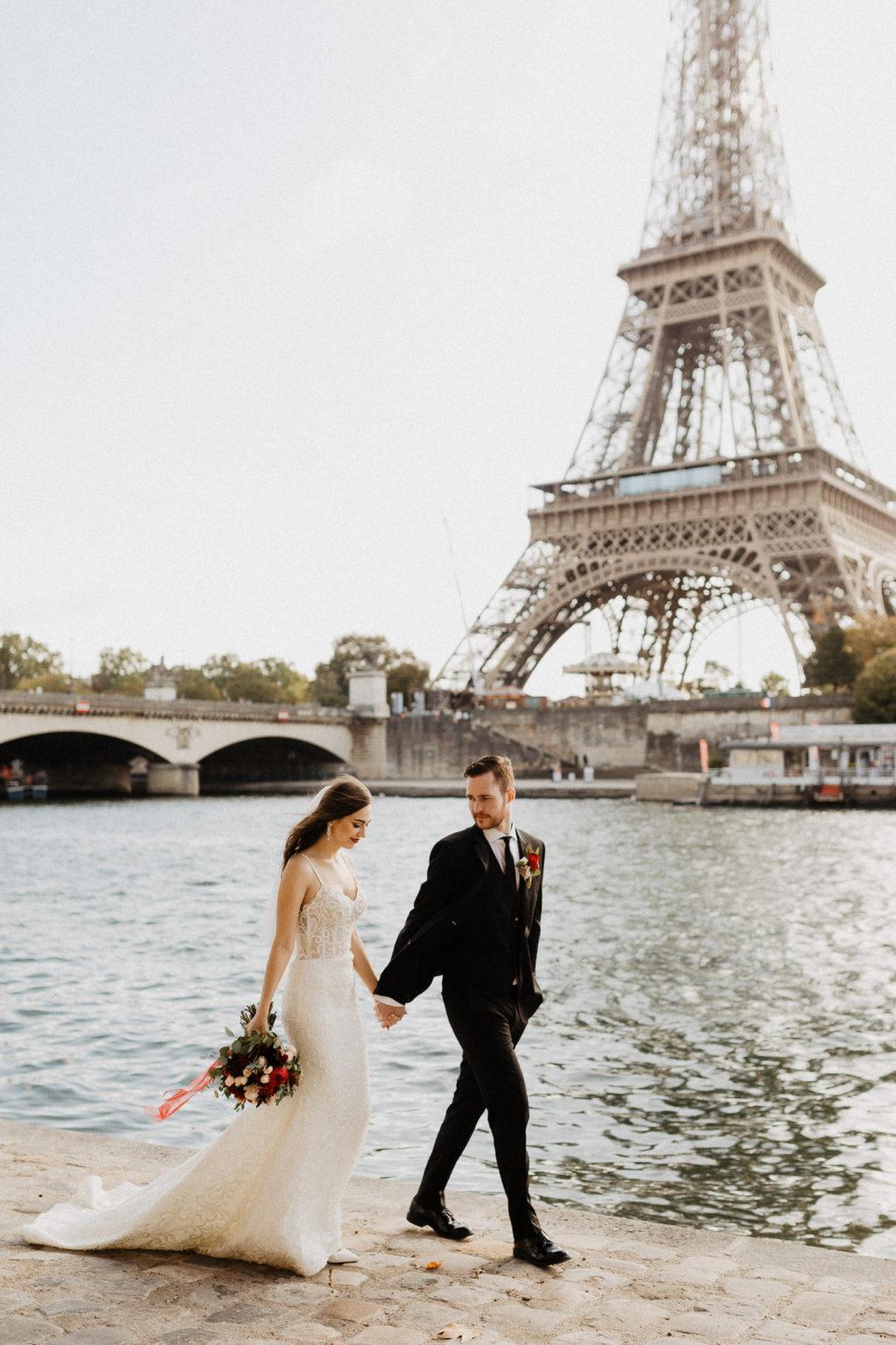Eiffel Tower by the Seine