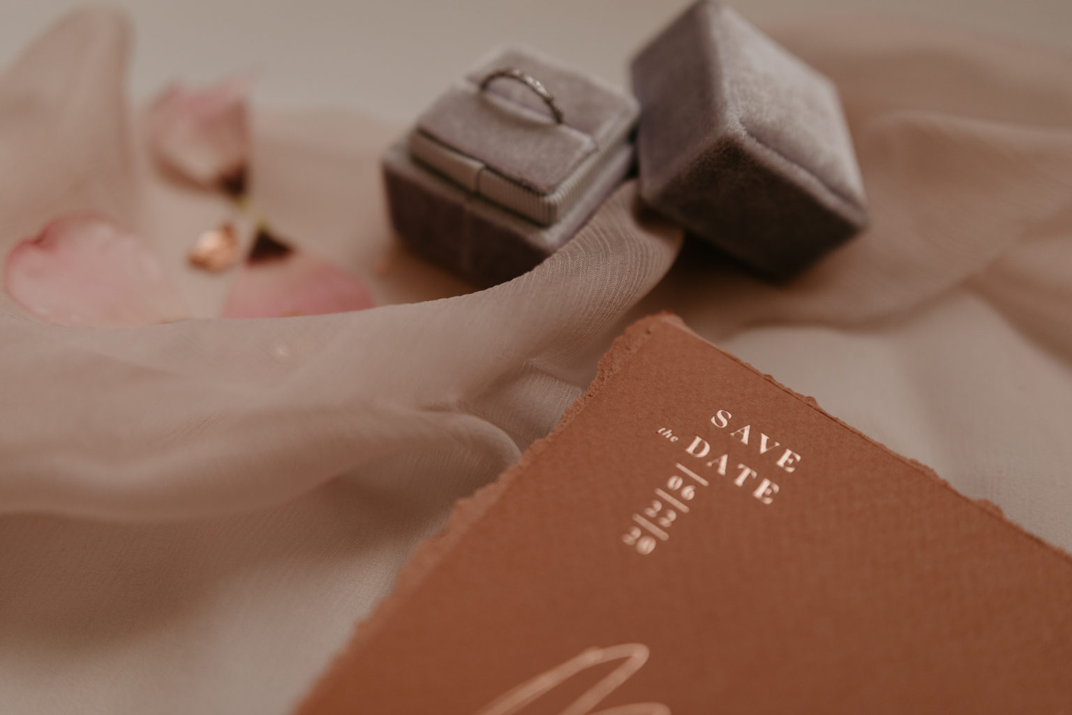 Ring and stationery elopement wedding