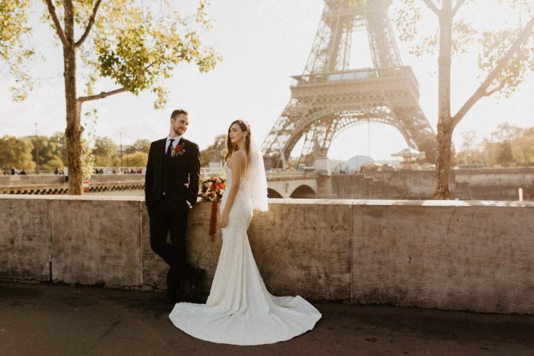 elopement wedding eiffel tower seine
