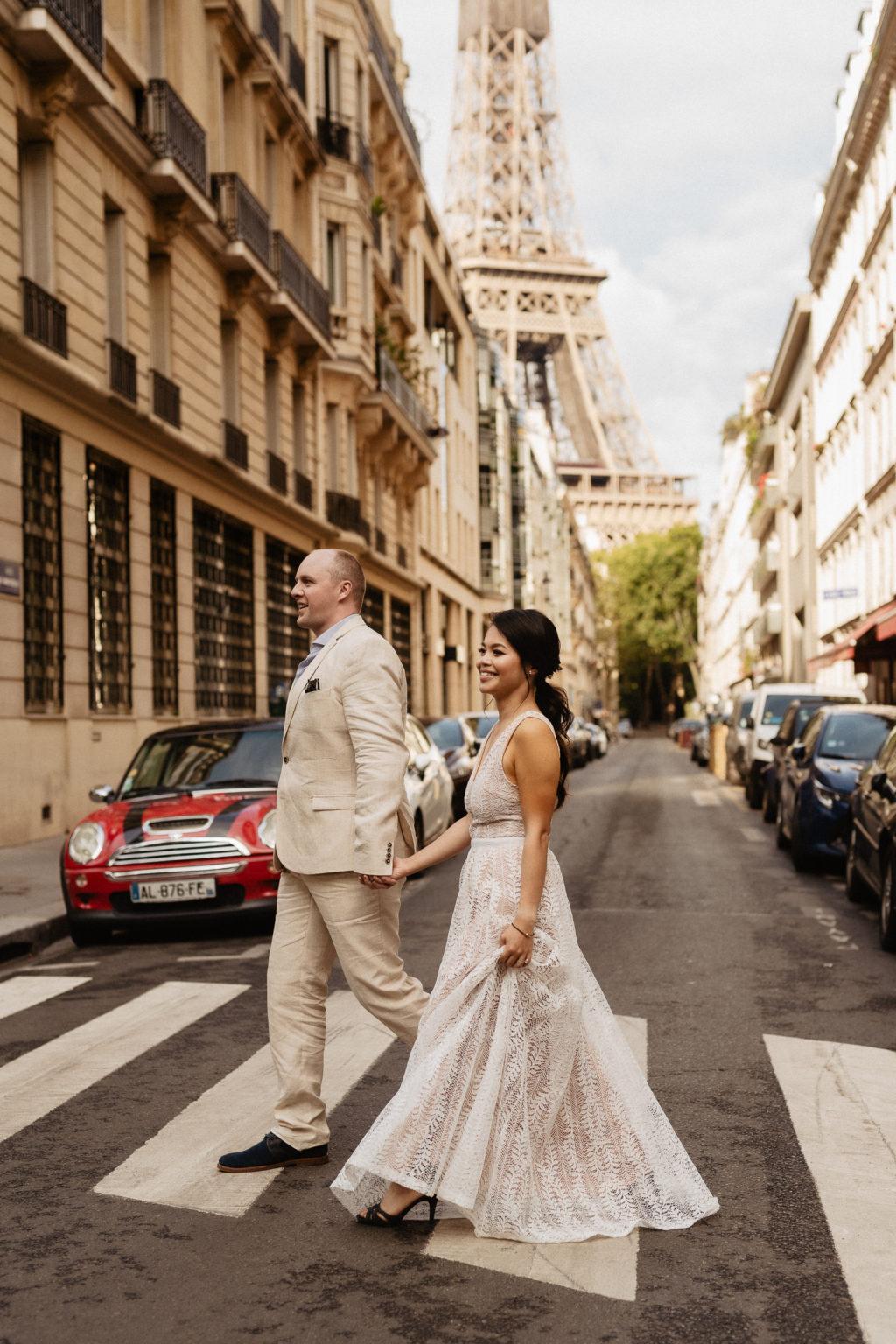 No stress Paris Elopement with Eiffel tower