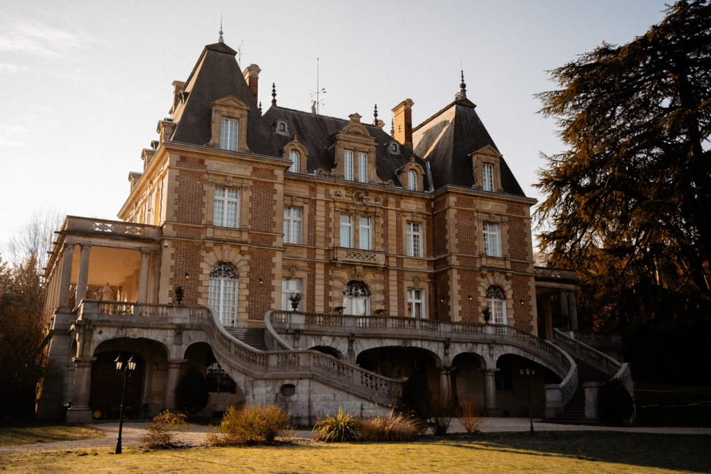 Chateau Bouffemont intimate wedding at golden hour